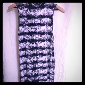 navy tie dye dress